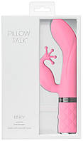 Розовый вибратор кролик PILLOW TALK