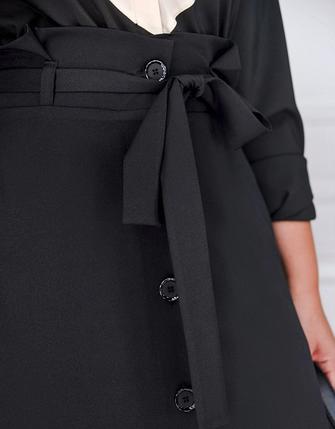 Классическая офисная юбка батал Размеры 50,52, фото 2