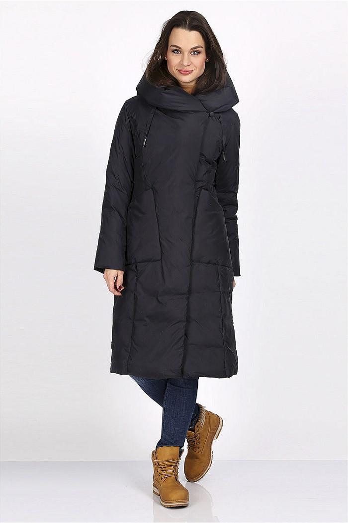 Зимнее пальто Полли черный (46-54)