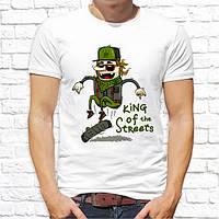 "Мужская футболка с принтом Скейтбордист ""King of the streets"" Push IT"