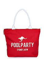 Сумка женская коттоновая PoolParty (коттон pool-9-red), фото 1