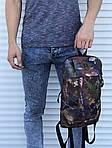 Симпатичний невеликий рюкзак міський (камуфляж), фото 4