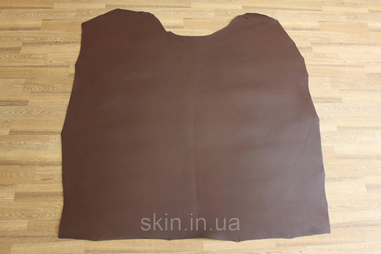 Кожа натуральная ременная коричневая с финишным покрытием, толщина 3.5 мм,  арт. СК 1726