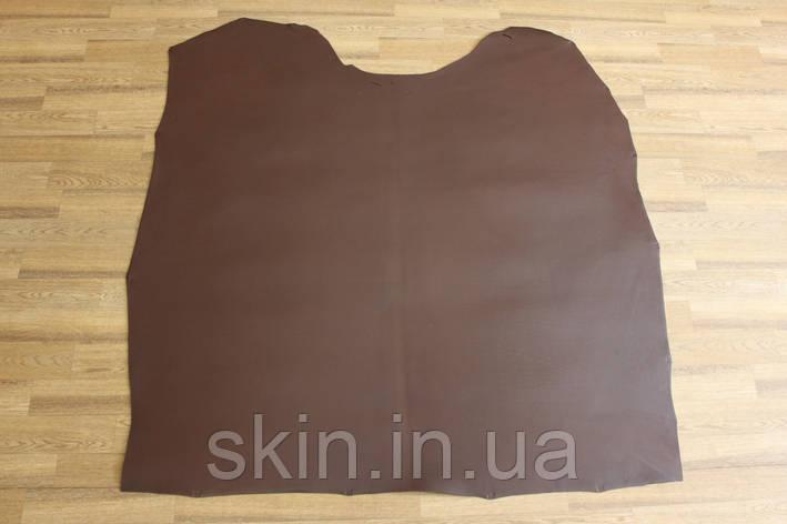 Кожа натуральная ременная коричневая с финишным покрытием, толщина 3.5 мм,  арт. СК 1726, фото 2