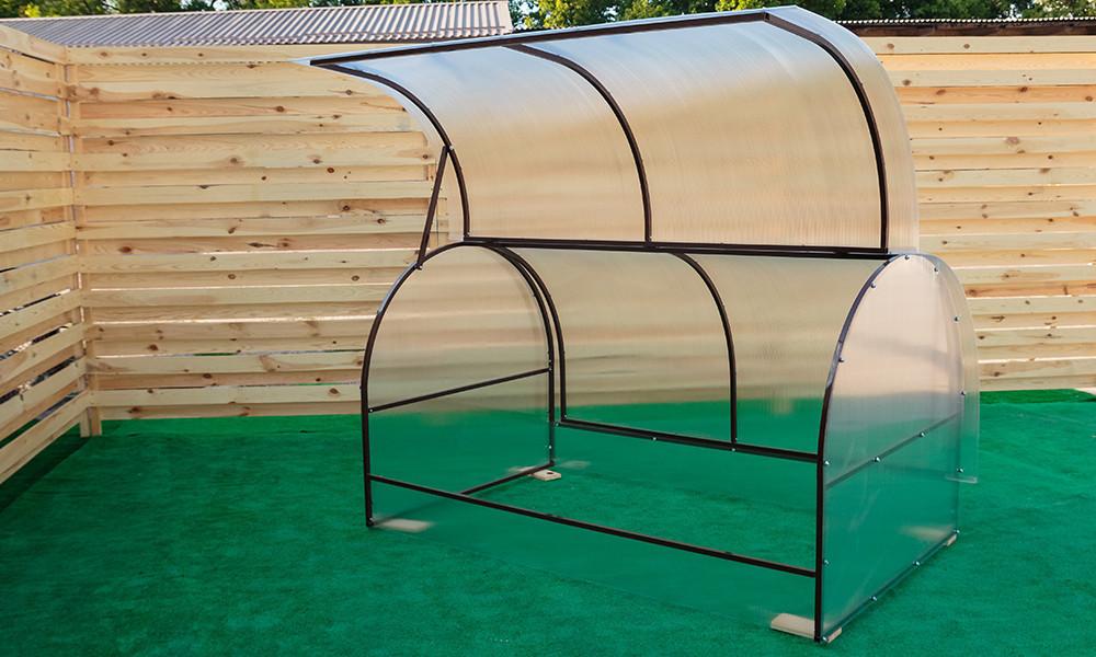 Парник Метелык Nk Plast (125х600х115 см) Сотовый Поликарбонат 4 мм