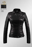 Куртка женская кож/зам размер нормачёрного цвета с карманами на молнии