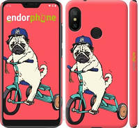 "Чехол на Xiaomi Mi A2 Lite Мопс на велосипеде ""3072c-1522-15920"""