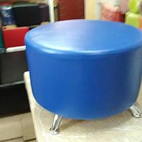 Пуфик Фрио 33 синий,пуфик,пуфики,пуф кожзам,пуф экокожа,банкетка,банкетки,пуф куб,пуф фото, фото 3