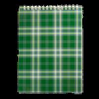 Блокнот на пружине Buromax Shotlandka А5 48 листов клетка зелёный