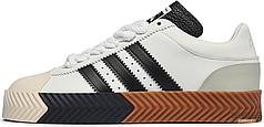 Мужские кроссовки Adidas AW Skate Super Alexander Wang White Black F35295 , Адидас Александер Ванг