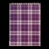Блокнот на пружине Buromax Shotlandka А5 48 листов клетка фиолетовый