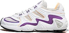 Женские кроссовки Adidas FYW S-97 White Flash Orange Purple EE5303, Адидас Ориджиналс FYW S-97