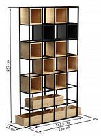 Стеллаж для хранения  LNK-LOFT 2570*350*1475