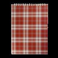 Блокнот на пружине Buromax Shotlandka А5 48 листов клетка бордовый