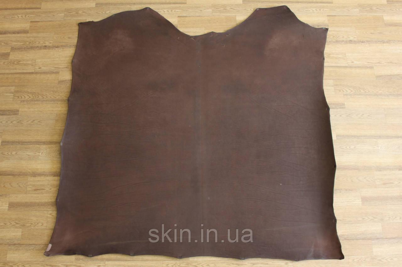 Кожа натуральная ременная коричневая, толщина 3.5 мм,  арт. СК 1661