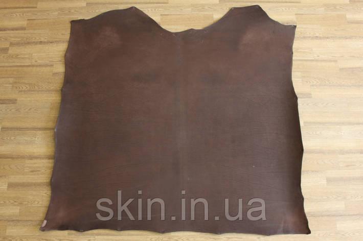 Кожа натуральная ременная коричневая, толщина 3.5 мм,  арт. СК 1661, фото 2