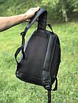 Кожаный школьный и спортивный рюкзак (черный), фото 2
