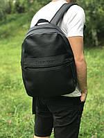 Кожаный школьный и спортивный рюкзак Calvin Klein (черный)
