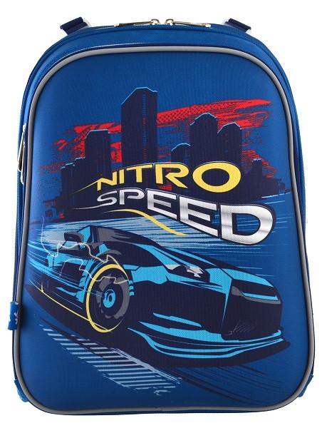 555958 Каркасный школьный рюкзак Yes H-12 Nitro Speed 29*38*15