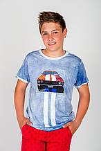 Детская футболка для мальчика MEK Италия 191MHFN011 Голубой