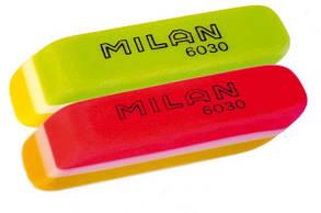 Ластик, резинка стирательная Milan 6030, скошенный