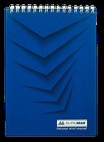 Блокнот на пружине Buromax Monochrome А5 48 листов клетка синий