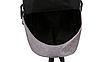 Рюкзак городской мужской женский Jinman Черный, фото 10