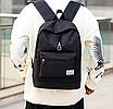 Рюкзак городской мужской женский Jinman Черный, фото 4