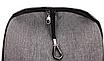 Рюкзак городской мужской женский Jinman Черный, фото 9