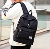 Рюкзак городской мужской женский Jinman Черный, фото 5