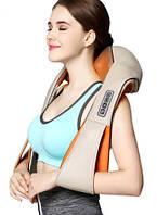 Универсальный массажер для шеи и спины 4 кнопки (Шиацу) воротник 55W