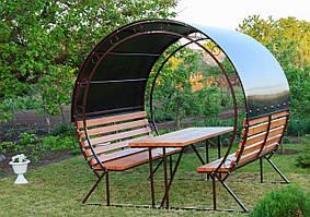 Беседка Садовая Барселона Nk Plast (230х227х200 см) Сотовый Поликарбонат