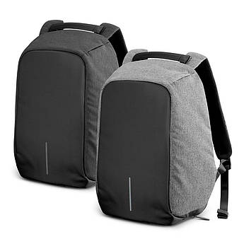 Рюкзак антивор для ноутбука с USB серый