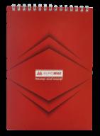 Блокнот на пружине Buromax Monochrome А5 48 листов клетка красный