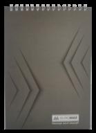 Блокнот на пружине Buromax Monochrome А5 48 листов клетка серый