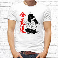 Мужская футболка с принтом Айкидо Push IT