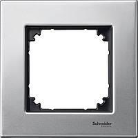 1-постовая рамка M-Elegance металл, платина-серебро