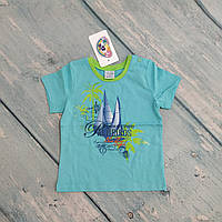 Детская футболка трикотажная на мальчика, р. 80