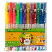 Набір гелевих ручок Zibi NEON+GLITTER 12 шт., 0.7 мм., асорті (ZB.2204-99)