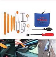 Набор инструментов для разборки салона авто с воздушным клином