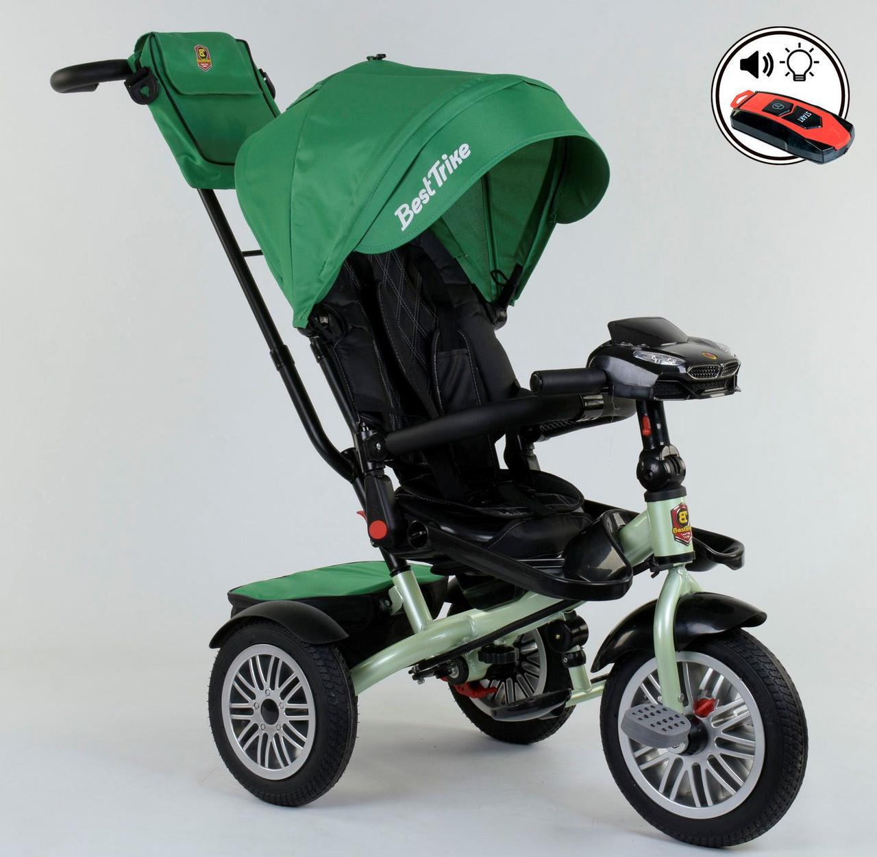 Велосипед 3-х колёсный 9288 В - 7215 Best Trike ПОВОРОТНОЕ СИДЕНЬЕ, СКЛАДНОЙ РУЛЬ, ПУЛЬТ 76978