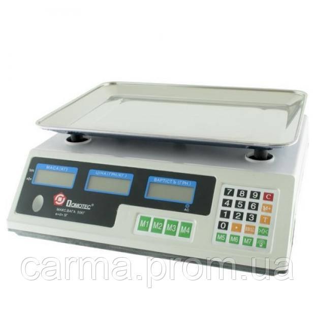 Весы торговые электронные Domotec MS-228 50 кг