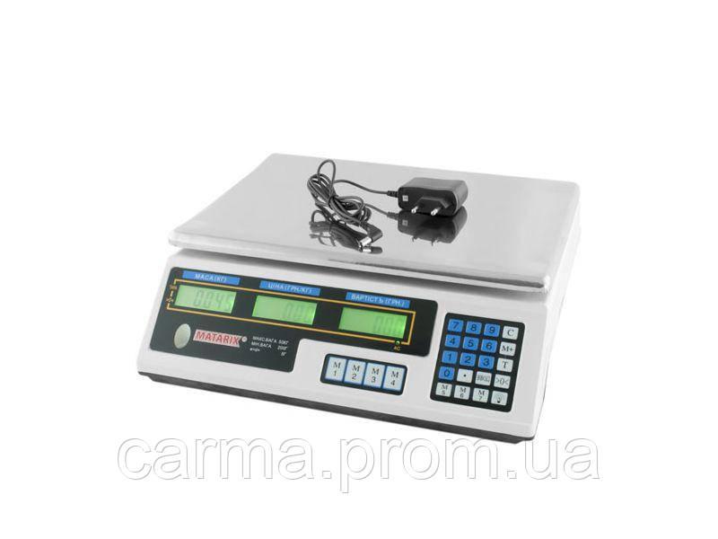 Весы торговые электронные Matarix MX-410B 50 кг