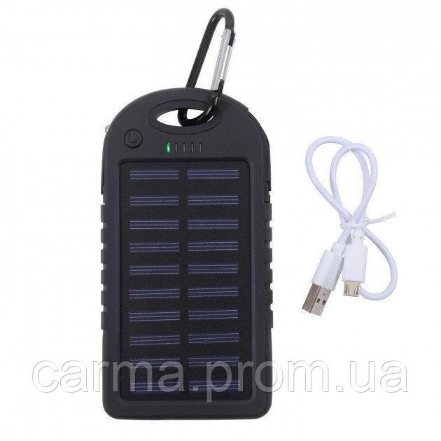 Мобильная зарядка Power Bank UKC Solar 10000 mAh Солнечная батарея