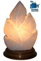 Солевая лампа «ЛИСТ резной» / 130х130х200