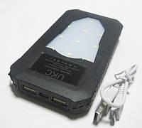 Мобильная зарядка Power Bank UKC Solar 25800 mAh Солнечная батарея