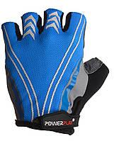 Велоперчатки PowerPlay L Голубые 5007BLBlue, КОД: 977455