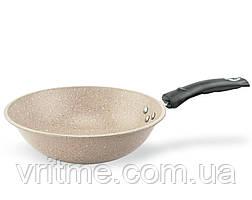 Глибока WOC сковорідка з мармуровим антипригарним покриттям Supretto 28 см