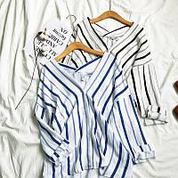 Красивая рубашка полосатая с длинным рукавом