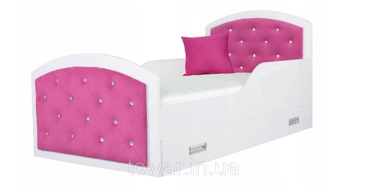 Детская кровать QUEEN 160x80 + матрац в подарок
